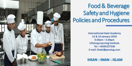 Food & Beverage Safety and Hygiene Policies and Procedures tickets