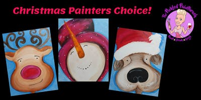 TRIPLE TICKET - Painting Class - Christmas Painters Choice - ALL AGES.