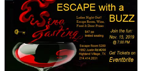 Escape with a Buzz - Escape Room and Wine Tasting
