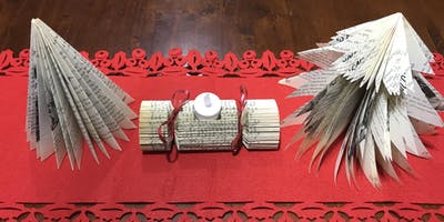 Make your own Christmas decorations using books!