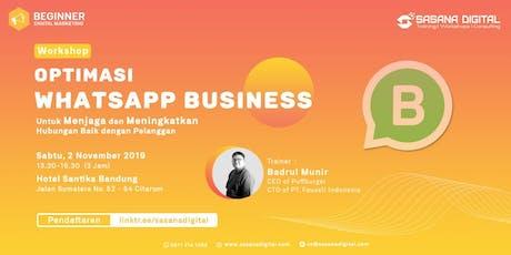 PAID WORKSHOP: Optimasi WhatsApp Business tickets