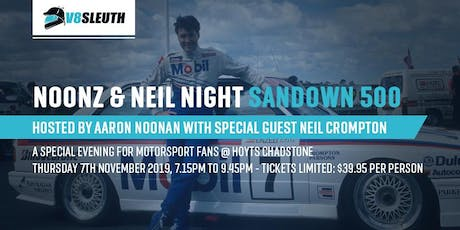 Noonz and Neil Crompton at the V8 Sleuth Open Night - Melbourne tickets