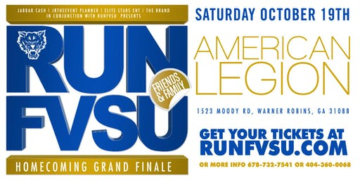 RUN FVSU PRESENTS FORT VALLEY STATE HOMECOMING GRAND FINALE