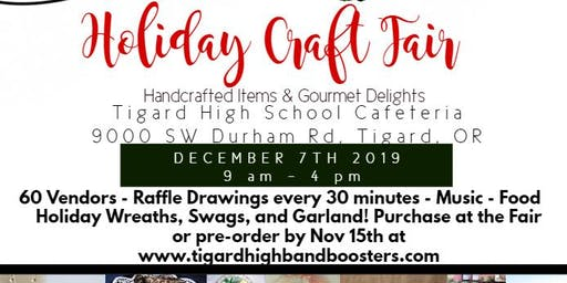 The Tigard High Band & Auxiliary Boosters Presents Holiday Craft Fair