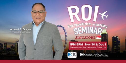 [FREE] Real Opportunities in Investing Seminar - Singapore