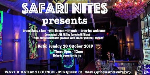 Safari Nites - Drum Class/Jam, ART and Ecstatic Dance Circle