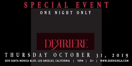 Halloween Costume Ball @ New Night Club Derriere in West Hollywood  tickets