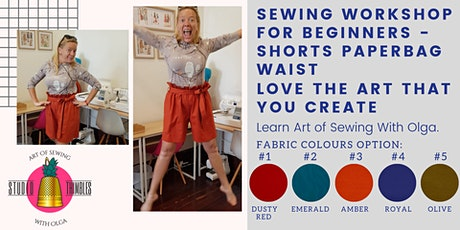 Sewing Class / Workshop – Shorts with Paperbag Waist for your perfect fit! tickets