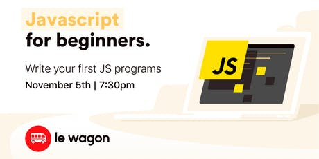 JavaScript for Beginners - Workshop tickets