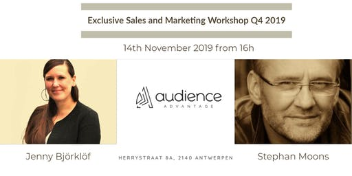 Exclusive Sales and Marketing Workshop Q4 2019
