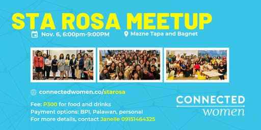 #ConnectedWomen Meetup - Sta. Rosa (PH) - November 6