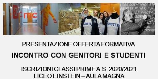Open day Liceo Einstein, Milano  20 novembre 2019