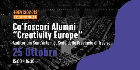 Creativity Europe - incontro con C. Cottarelli e B. Barel biglietti