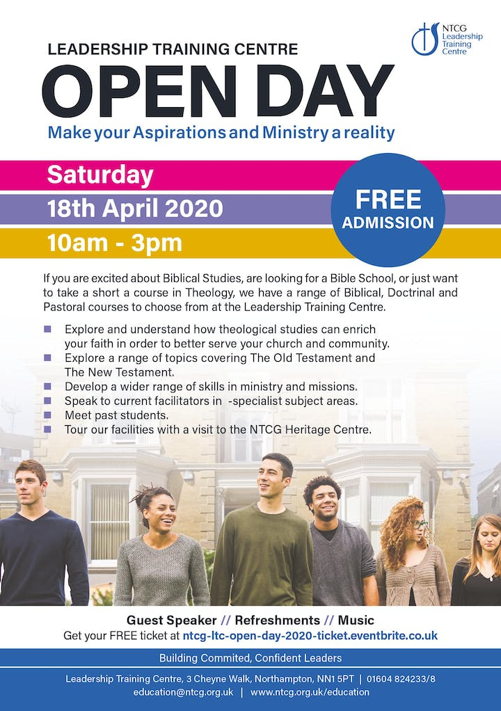 Events In North Hampton In April 2020.Ntcg Leadership Training Centre Open Day 2020 Tickets Sat