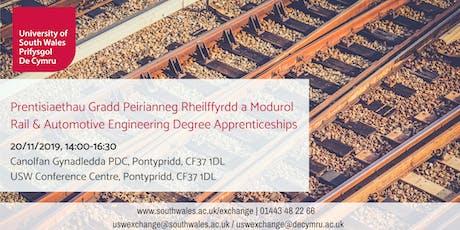 Rail & Automotive Engineering Degree Apprenticeships   Prentisiaethau Gradd Peirianneg Rheilffyrdd a Modurol tickets