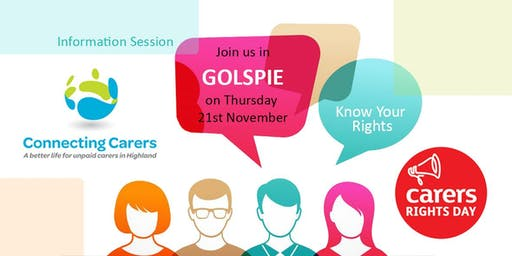 Carers Rights Day Information Session - Golspie