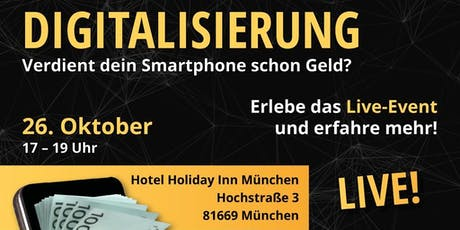 Digitalisierung - mit dem Smartphone Geld verdienen! Tickets