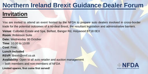 Northern Ireland Brexit Guidance Dealer Forum