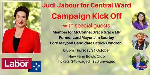Judi Jabour Labor for Central Ward - Campaign Kick Off