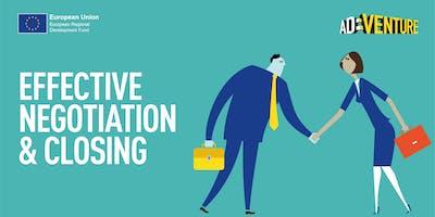 Adventure Business Workshop in Wetherby - Effective Negotiation & Closing Skills