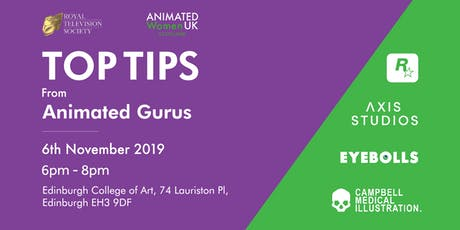 TOP TIPS FROM ANIMATED GURUS tickets