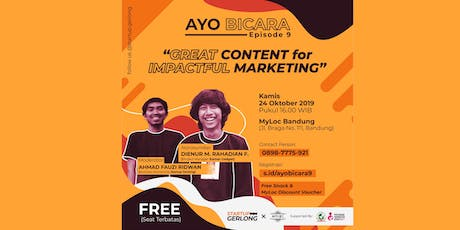 GREAT CONTENT FOR IMPACTFUL MARKETING tickets