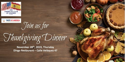 Celebrate Thanksgiving with The American Club of Madrid