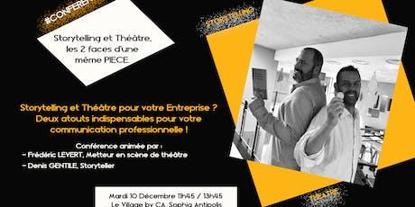 Storytelling et  Théâtre : les 2 faces d'une même pièce. billets