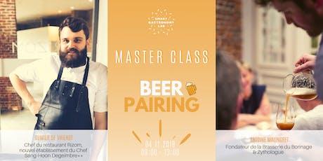  Master Class ] Beerpairing: à chaque bière son plat! billets