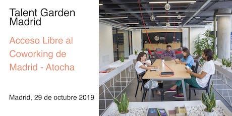 Día de Acceso Libre al Coworking de Talent Garden Madrid entradas