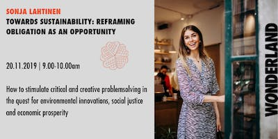 Waffle Wednesday: Towards sustainability - obligation to opportunity