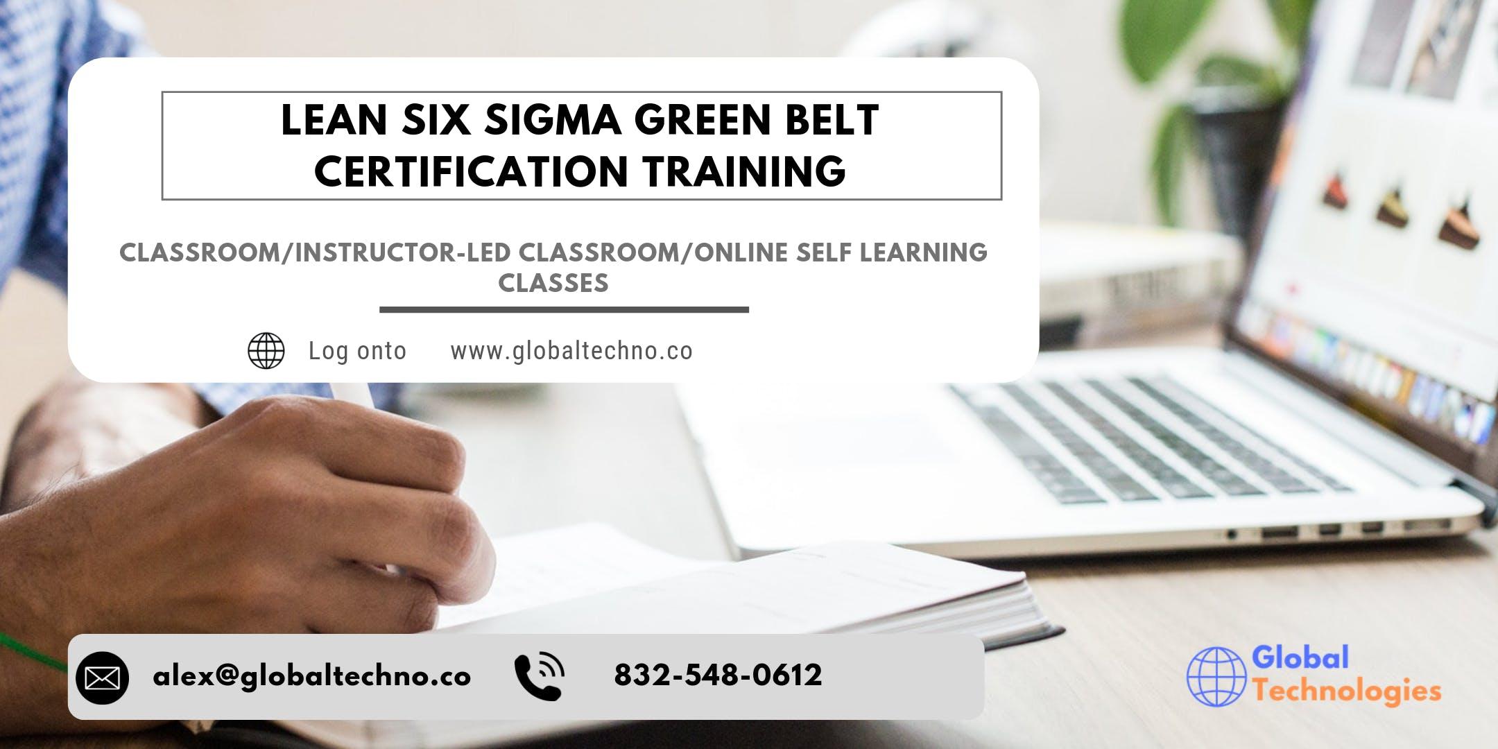 Lean Six Sigma Green Belt (LSSGB) Online Training in Saint John, NB