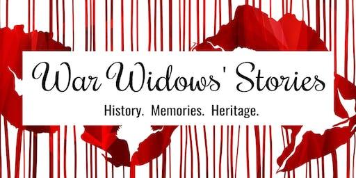 War Widows' Stories: Exhibition Launch & Celebration