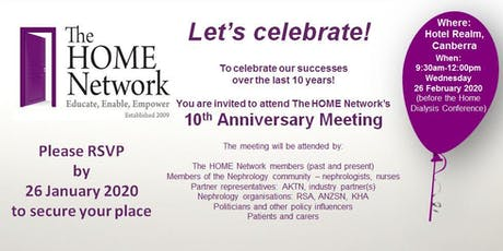 The HOME Network 10 Years Celebration tickets