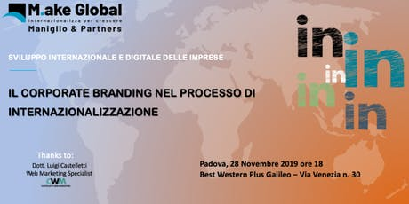 Il Corporate Branding nel processo di Internazionalizzazione biglietti