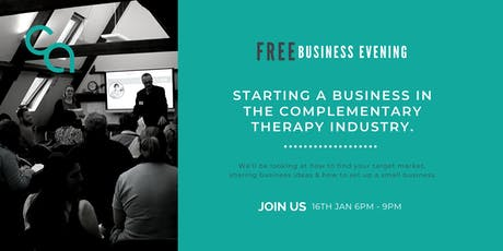 A Business in the Complementary Health Industry 16th January 2020 tickets