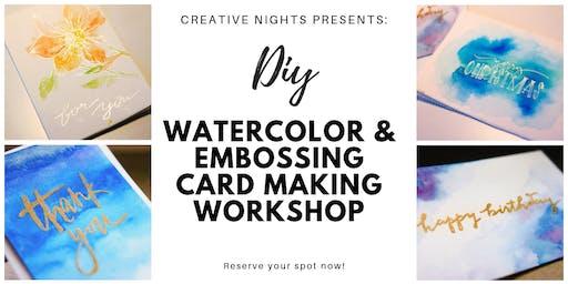 DIY Watercolour & Embossing Card Workshop