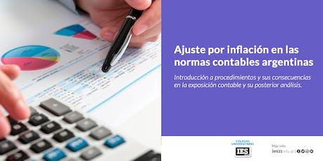 Ajustes por Inflación en las normas contables Argentinas entradas