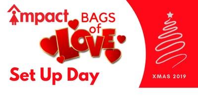 Bags of Love:  set up day