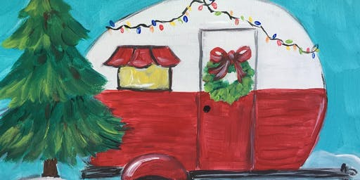 Christmas Camper Painting