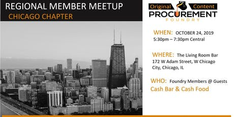 Greater Chicago Member meetup - October 2019 tickets