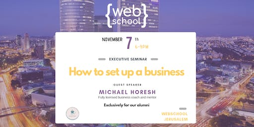 How to set up a business | Conference