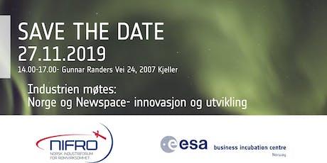 Industrien møtes: Innovasjon og utvikling i romsektoren  tickets