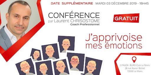 2ÈME DATE - Conférence gratuite : J'APPRIVOISE MES ÉMOTIONS