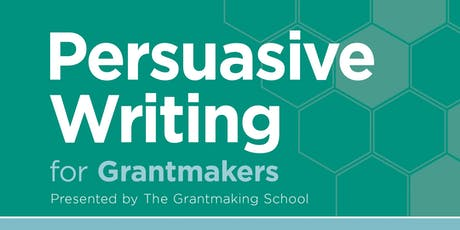 Persuasive Writing for Grantmakers tickets