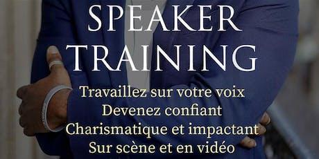 L'ATELIER CONFÉRENCE SPEAKER TRAINING billets