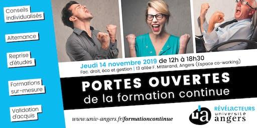 Portes ouvertes de la formation continue | Université d'Angers