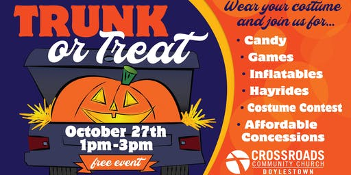 TRUNK OR TREAT - FREE EVENT FOR THE FAMILY