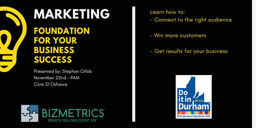 Marketing -  The Foundation for your Success