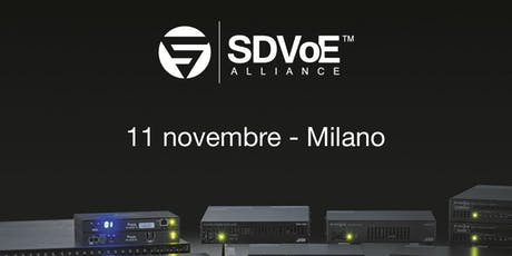 SDVoE seminario biglietti